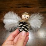 Christmas crafts for kids: Pinecone angel ornaments