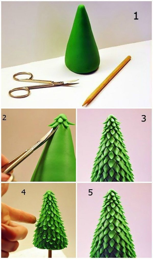 10 interesting Christmas tree arts for your children