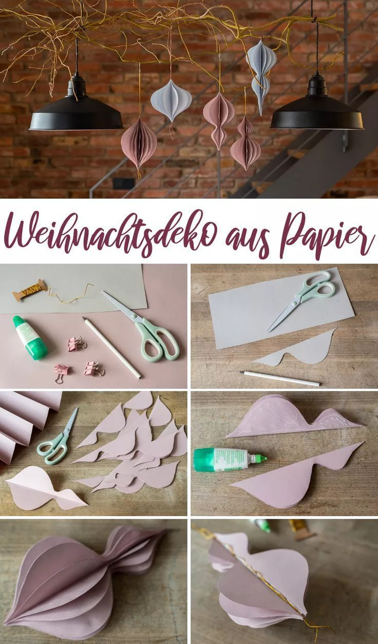 DIY - make your own Christmas decorations out of paper