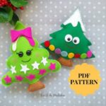 Christmas tree ornament pattern felt tree PDF Pattern