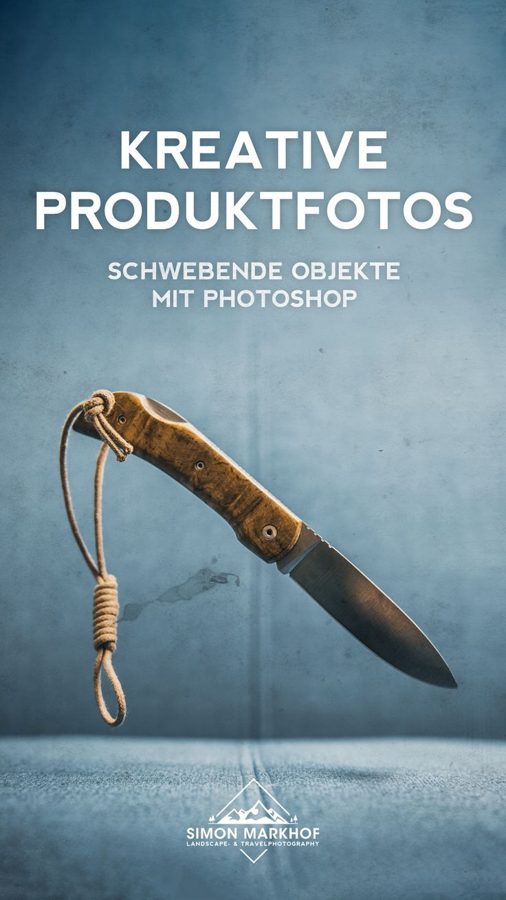 Creative product photos - floating objects with Photoshop