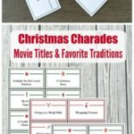 Christmas Charades Game & Pictionary Words {printable cards!}