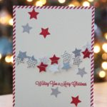 Christmas card with star garland and stars