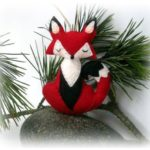 Red Fox Felt Ornament Pattern Sew A Stuffed Animal Christmas Tree Decoration Sof...