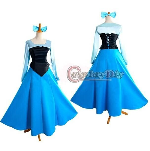 Customized The Little Mermaid Princess Ariel Dress Cosplay Adult Costume High Quality For Hal...