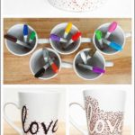 Diy Dotted Sharpie Mugs Using Dollar Store Mugs-This Would Be Fun For Christmas ...