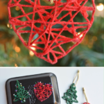 Wrapped Yarn Ornaments