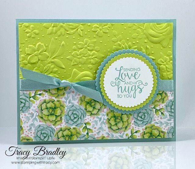 Handmade card featuring Painted Seasons Designer Series Paper and Country Floral...