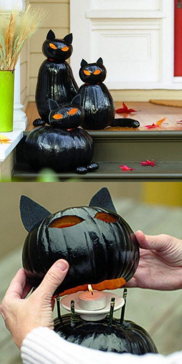 Horribly scary halloween decoration to make yourself - make pumpkin decoration