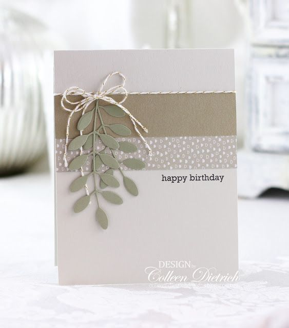 Easter and more! | Colleen Dietrich Designs - handmade birthday card using senti...