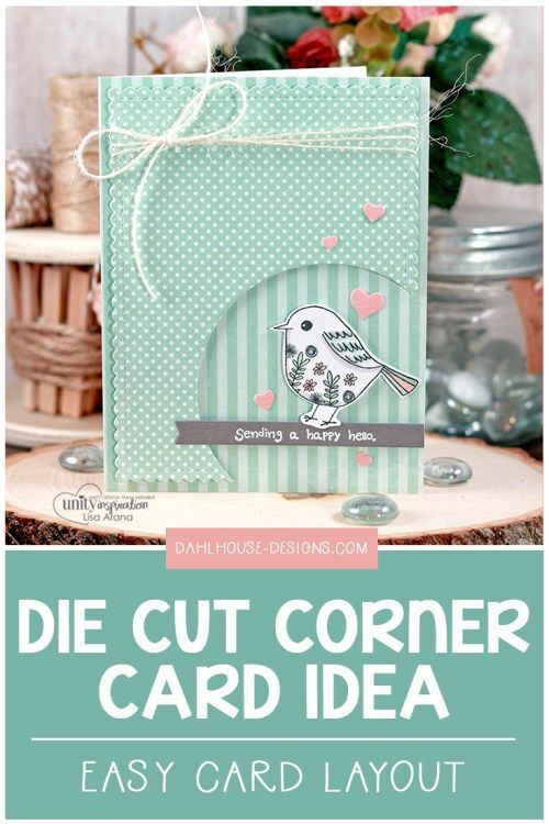 A fun handmade card idea with a cutout corner. A great way to highlight your sen...