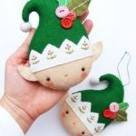 PDF pattern Christmas elf Felt Christmas ornament von iManuFatti