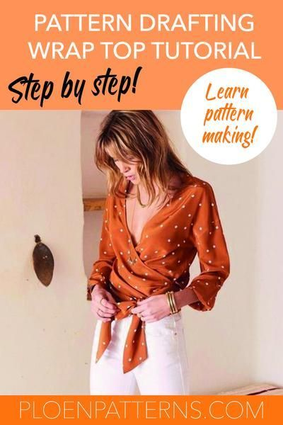 How to draft a wrap blouse - Step by step pattern making tutorial! – Ploen Pat...