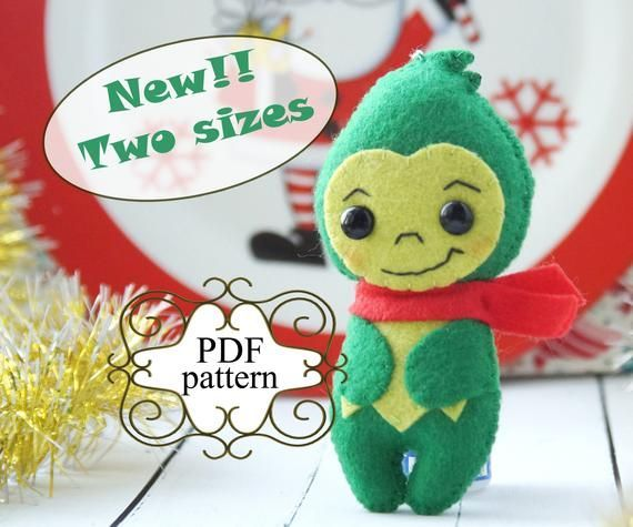 Felt christmas ornament patterns, Felt christmas ornaments, Felt grinch pattern,...