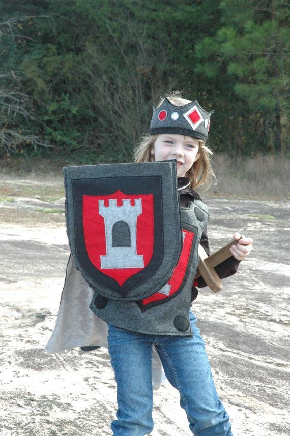Knight Shield Red and Black - Halloween Costume - Halloween Costume - Child Costume
