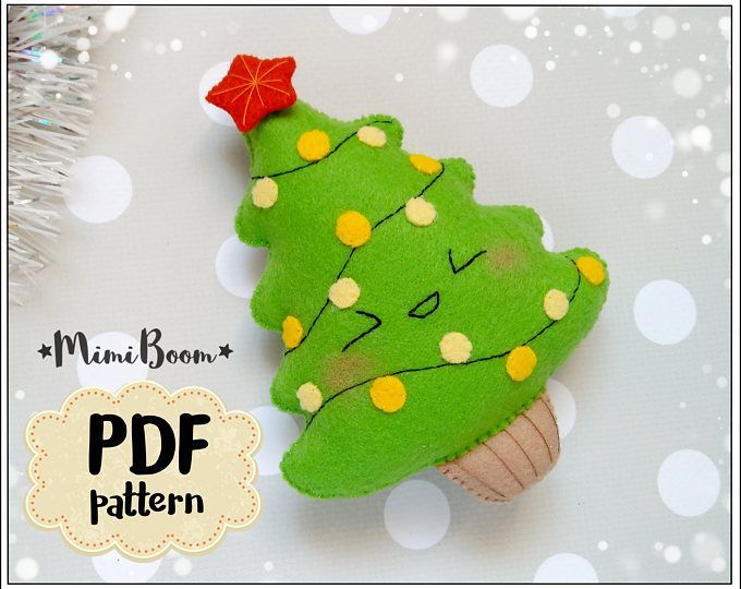 Christmas tree felt pattern Christmas patterns felt Christmas tree pattern PDF s...