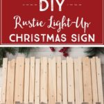 DIY Rustic Light-Up Christmas Sign, DIY Christmas Decor, O Holy Night, Christmas...