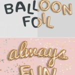 Easily create a realistic balloon foil effect with this Photoshop template. Just...