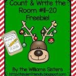 December Count and Write the Room Freebie for Numbers 11-20