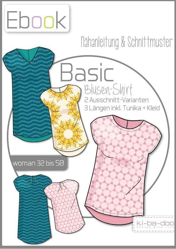 Ebook basic blouse shirt women - pattern and instructions as pdf file, vers ...
