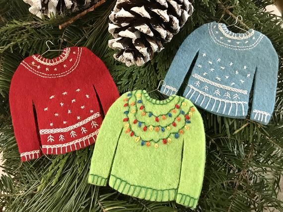 This listing is for a downloadable PDF pattern only.  These adorable sweater orn...