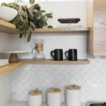 11 types of white kitchen splashback tiles: Add interest with shape over colour....