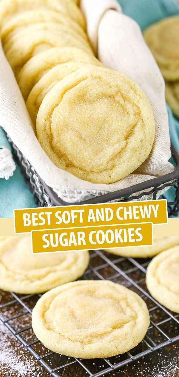 Best Soft and Chewy Sugar Cookies Use up those Thanksgiving leftovers to make th...