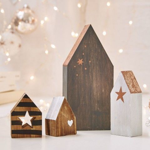 Christmas decoration of wood, Christmas decoration, country house decoration #christma