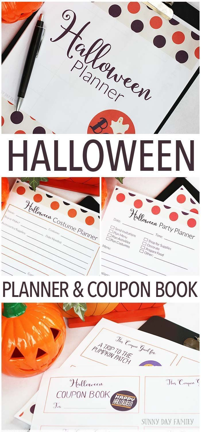 Get organized this printable Halloween planner! Includes pages to help plan Hall...