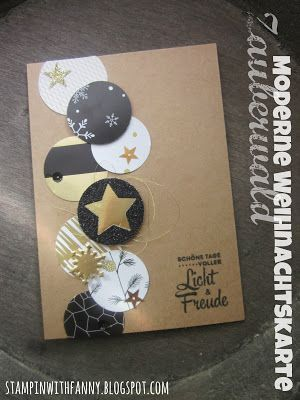stampin with fanny: Christmas card for remainder use with magic forest circles
