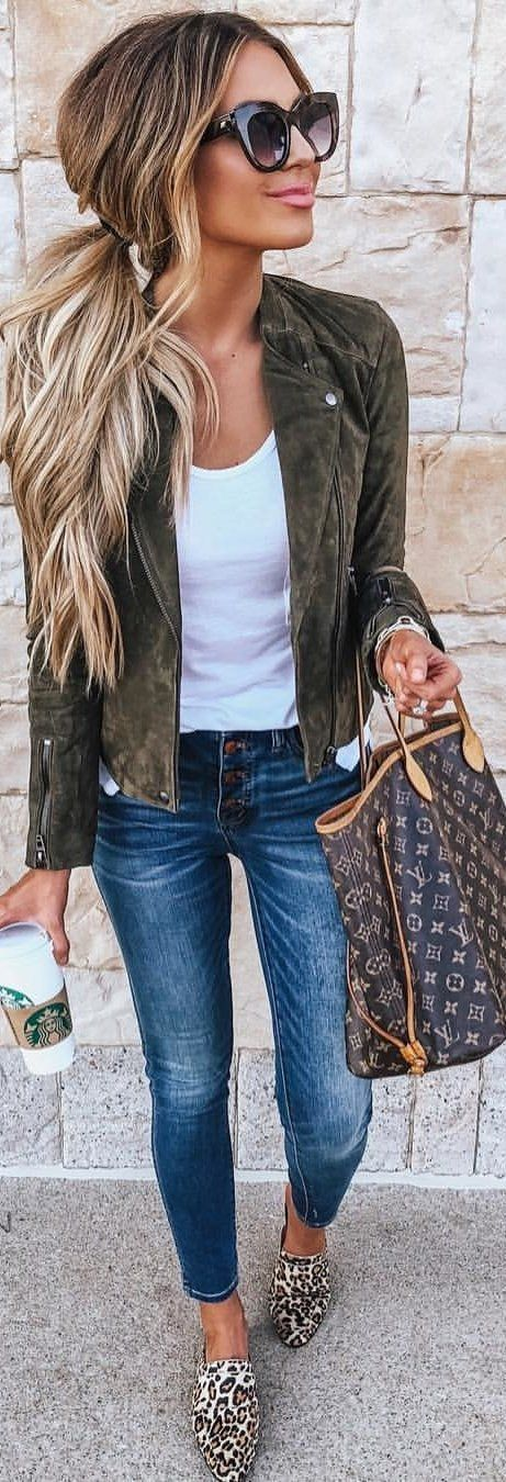 #summer #Outfits women's navy green zip-up jacket. - fashion trends