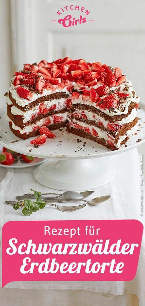 Recipe for Black Forest strawberry cake