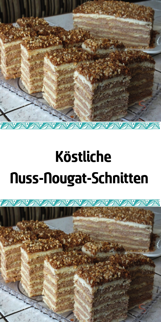 Delicious nut and nougat slices