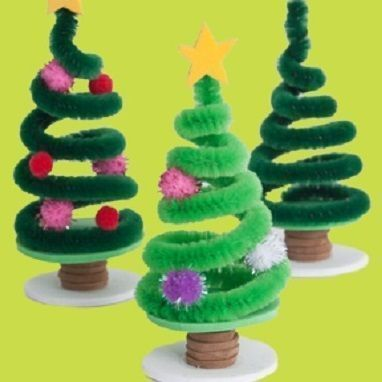 Mini Christmas tree in a bare tree cure tube,