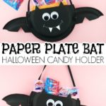 #ad This paper plate Halloween candy holder is a great Halloween craft for kids ...