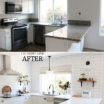 White Semihandmade Kitchen Renovation: Before   After