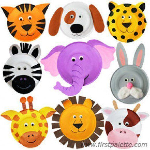 Fun, easy paper plate crafts for kids, preschool, toddler, kindergarten, to make...