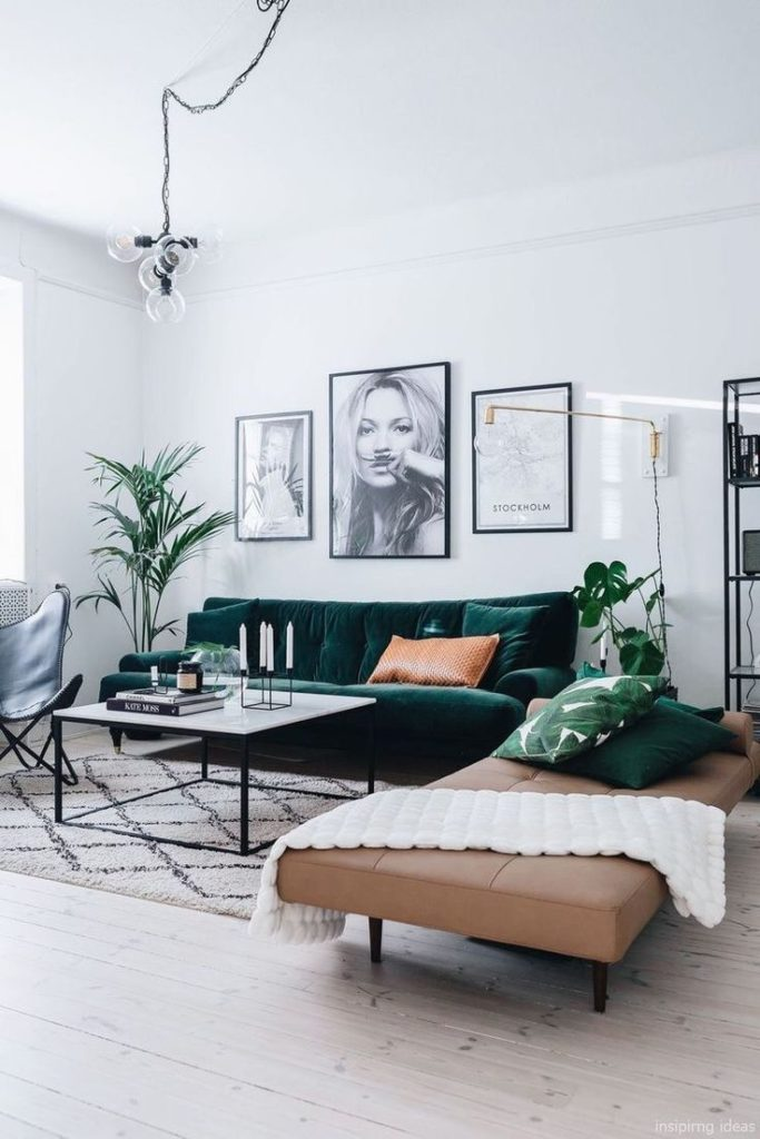 Furniture Living Room: As if a piece of nature is black brown and green ...
