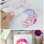 Hand Stenciled Paper Treat Bags- Lacy Watercolor Prints - The Kitchen Table Classroom