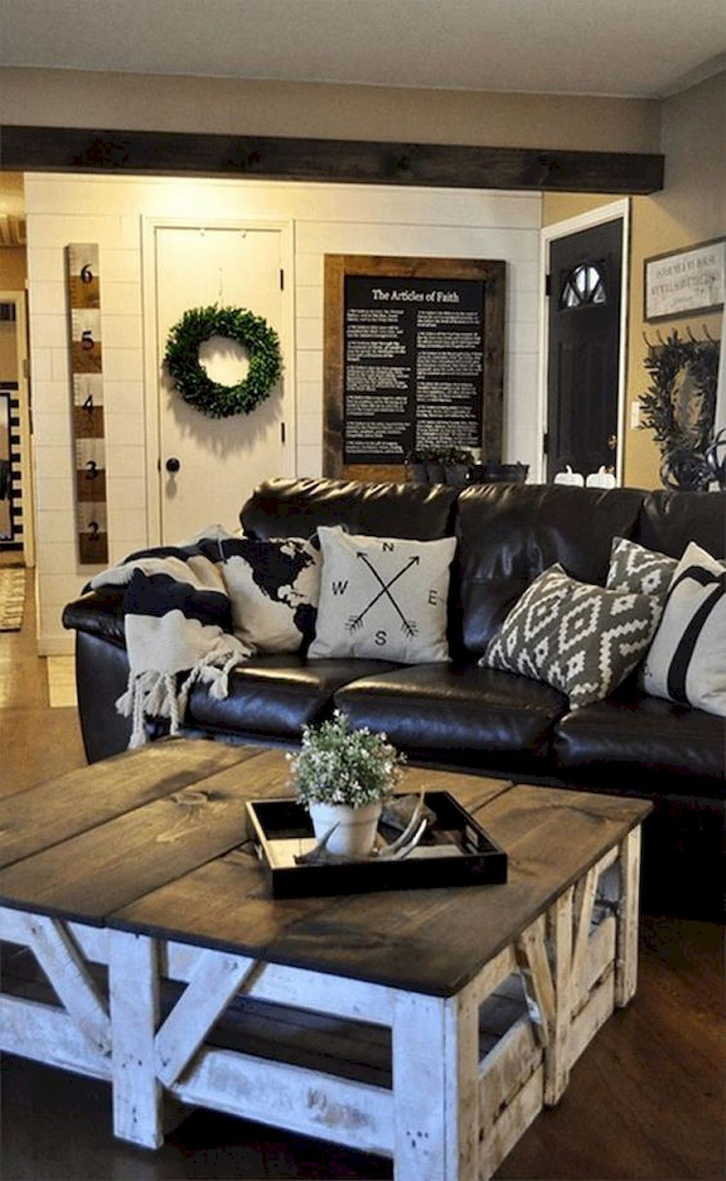 80 Cozy Rustic Farmhouse Living Room Remodel and Design Ideas