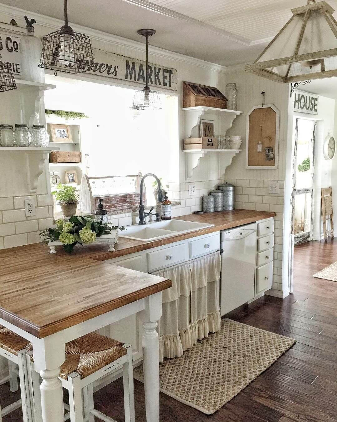 35 farmhouse kitchen cupboard Ideas for a warm and inviting kitchen design in your home - home decors