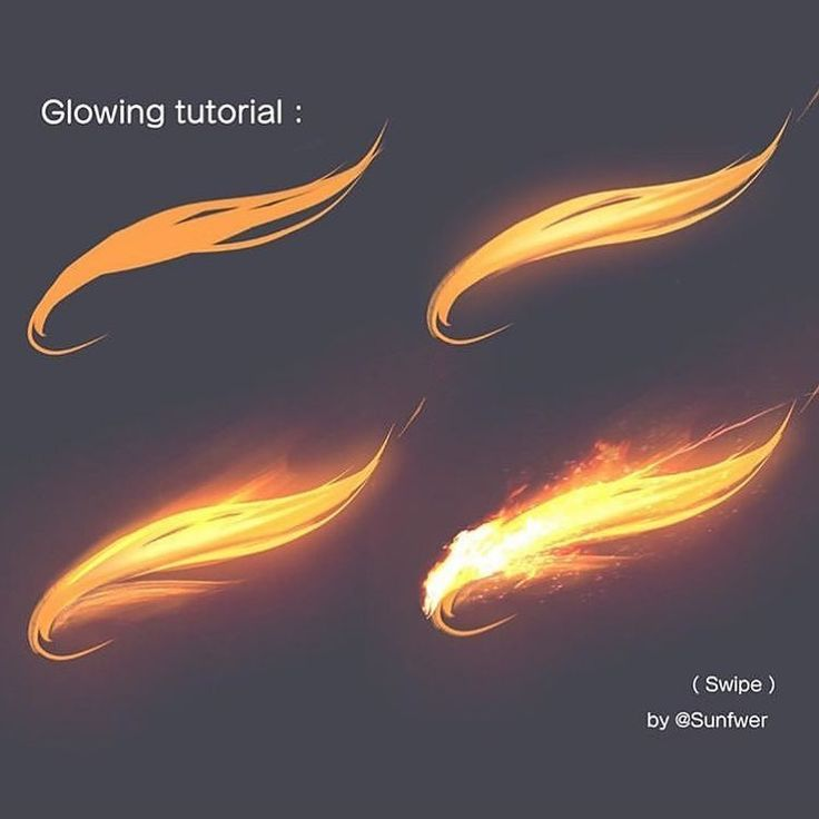 Today's inspiration is a glow tutorial from Sunfwer.