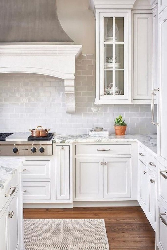 110+ Lovely White Kitchen Cabinet Design Ideas - Page 12 of 108