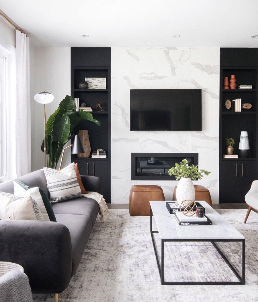 Warning: These 10 Black-and-White Living Room Ideas Are Downright Intoxicating | Hunker