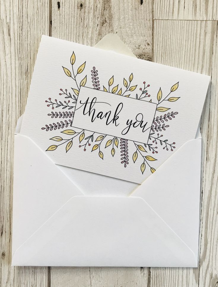 Hand #lettered #floral #thank #you #cards #suitable