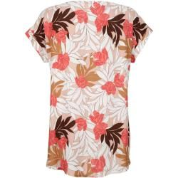 Amy Vermont, blouse with floral allover print, rosé Amy Vermont