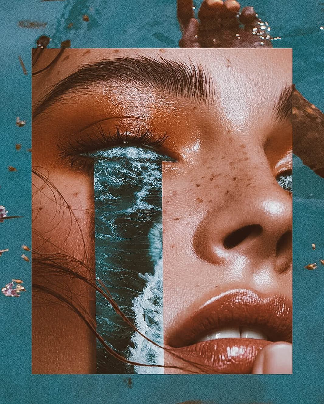 "Denis Sheckler - Surreal art on Instagram: ""water inside💮 