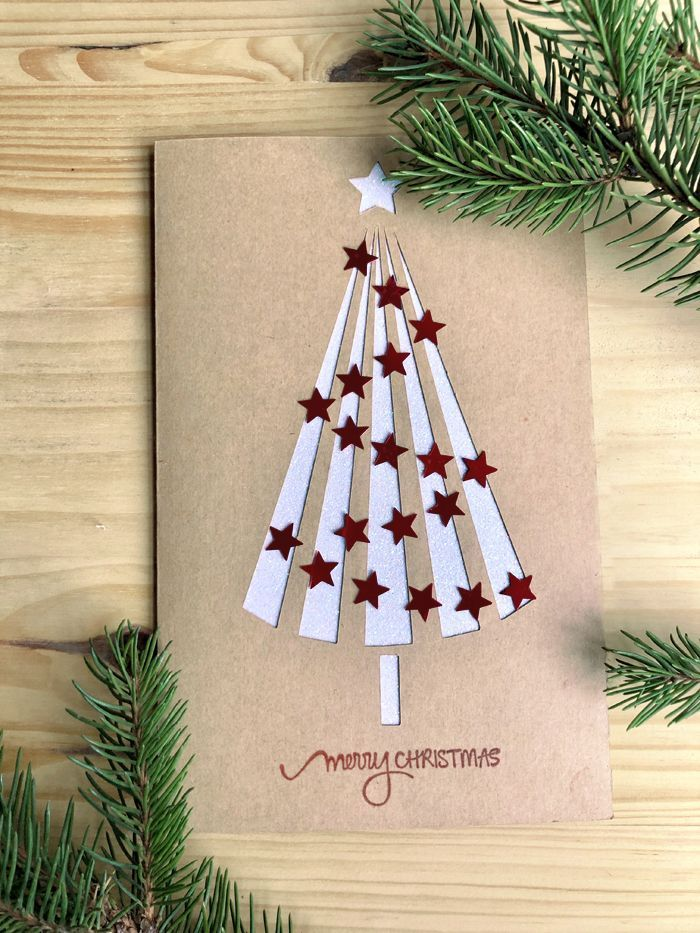 Free Christmas greeting card tutorial - easy paper crafts - diy paper blog