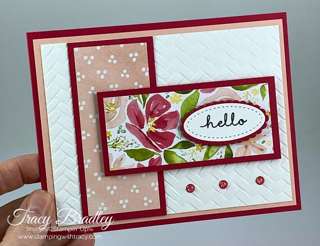 Stampin' Up! Coastal Weave Embossing Folder - Stamping With Tracy