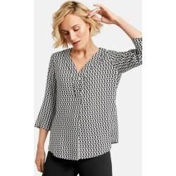 3/4 sleeve shirt with graphic pattern black Gerry Weber